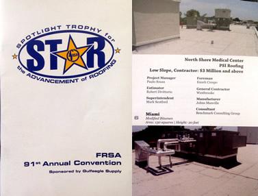 FRSA Star Award for work on North Shore Medical Center