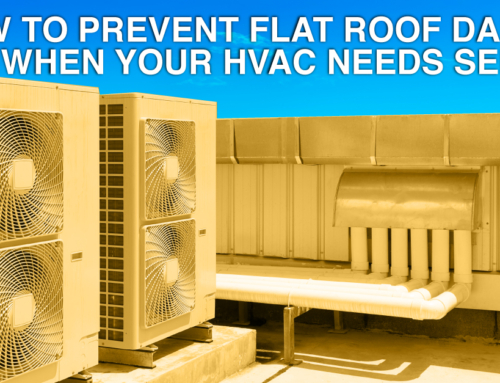 How To Prevent Flat Roof Damage When Your HVAC Needs Service