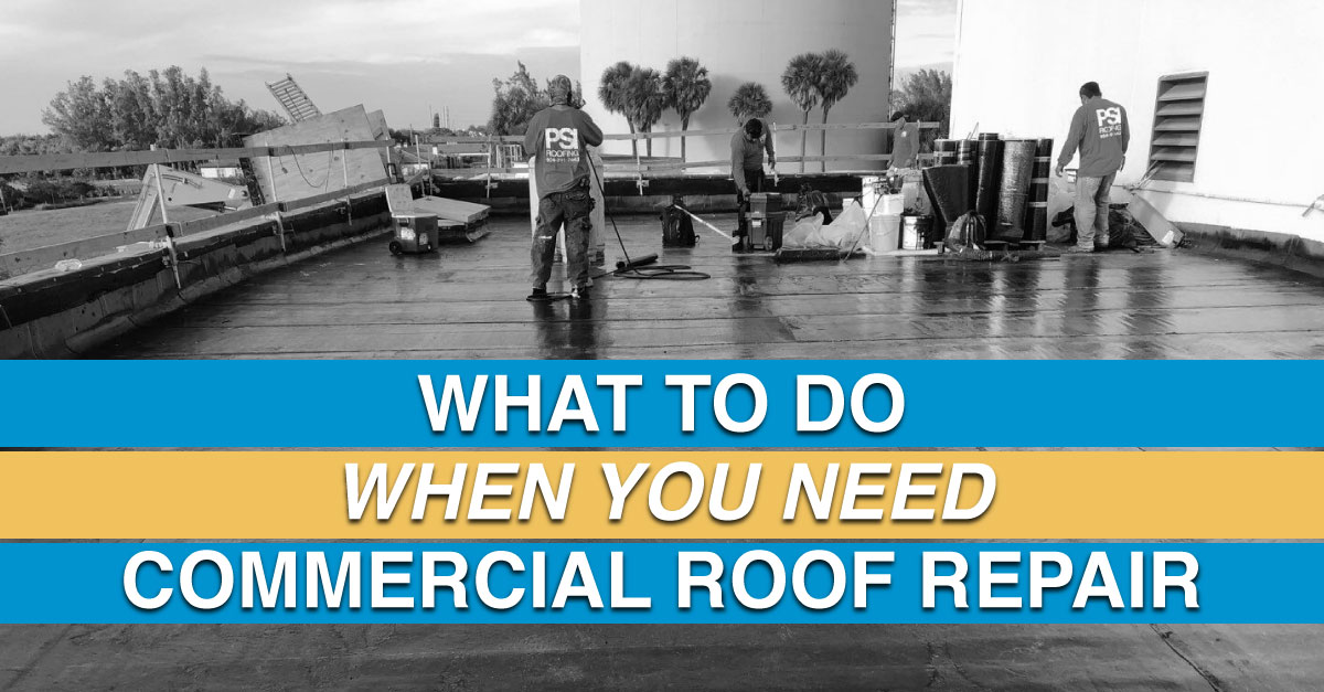 What to Do When You Need Commercial Roof Repair