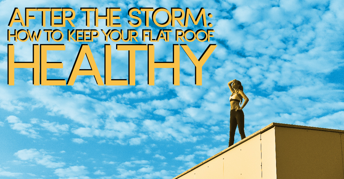 After the storm: How to keep your flat roof healthy