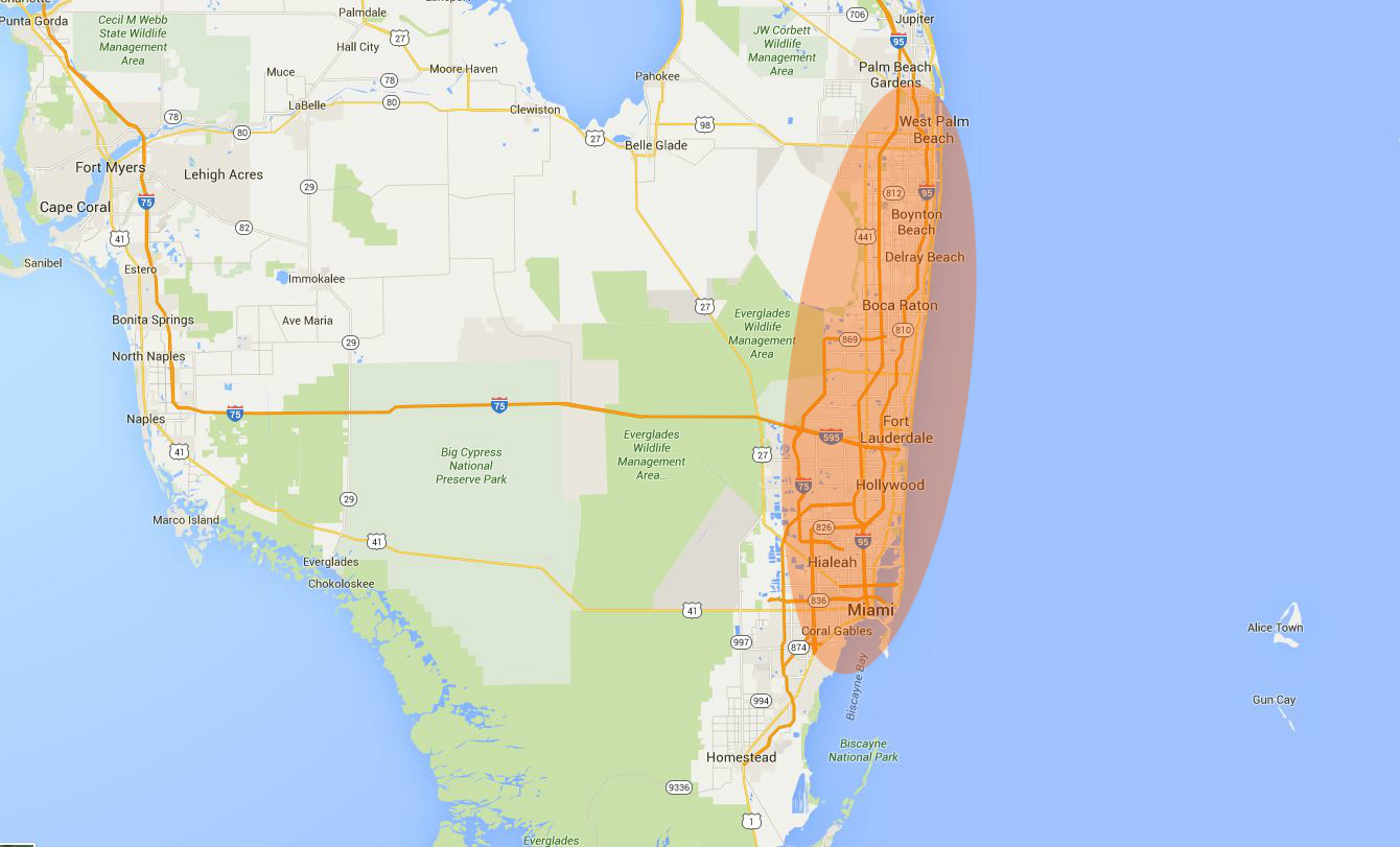 Broward County & Ft Lauderdale Commercial Roofing Service Area