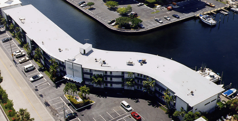commercial roofing services in south florida, new flat roof installation