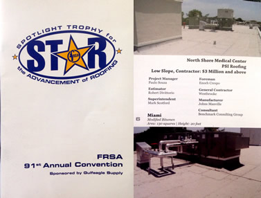 FRSA Star Award for work on North Shore Medical Center
