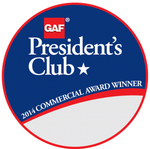 GAF President's Award given to PSI Roofing
